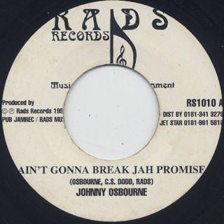 Johnny Osbourne / Ain't Gonna Break Jah Promise