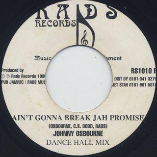 Johnny Osbourne / Ain't Gonna Break Jah Promise back