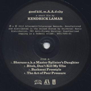 Kendrick Lamar / good kid, m.A.A.d city label
