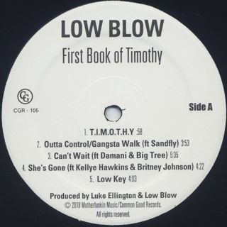 Low Blow / First Book Of Timothy label