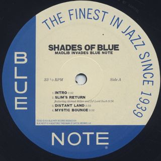 Madlib / Shades Of Blue (2LP) label