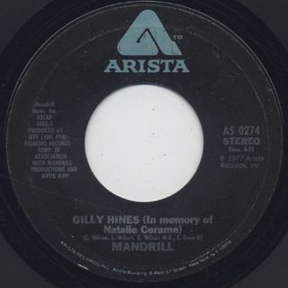 Mandrill / Funky Monkey c/w Gilly Hines back