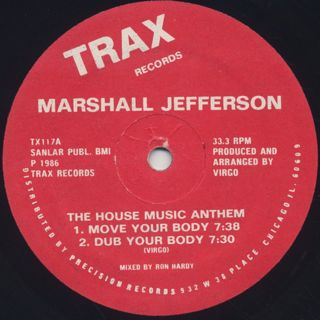Marshall Jefferson / The House Music Anthem