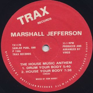 Marshall Jefferson / The House Music Anthem back
