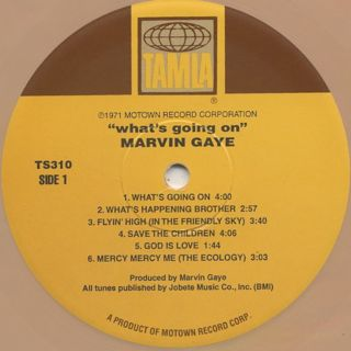 Marvin Gaye / What's Going On (Re) label