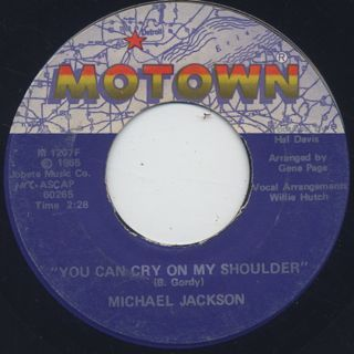 Michael Jackson / Ben c/w You Can Cry On My Shoulder back
