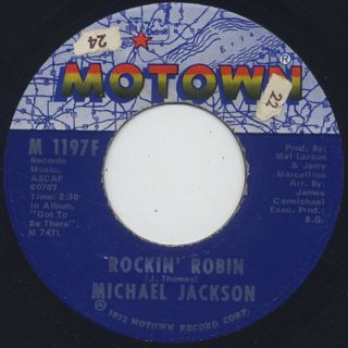Michael Jackson / Rockin' Robin c/w Love Is Here And Now You're Gone
