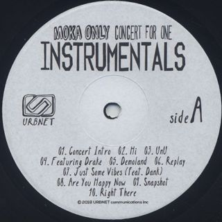 Moka Only / Concert For One Instrumentals label