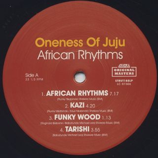 Oneness Of Juju / African Rhythms (Remastered) label