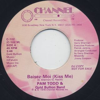 Pam Todd & Gold Bullion Band / Baisez-Moi (Kiss Me)