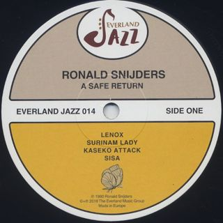 Ronald Snijders / A Safe Return label