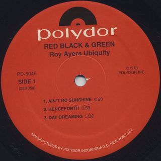 Roy Ayers Ubiquity / Red Black & Green label