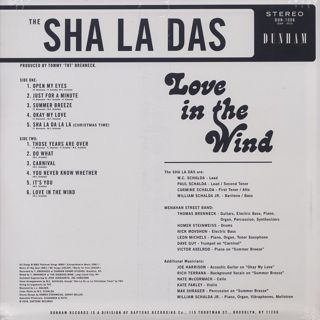 Sha La Das / Love In The Wind back