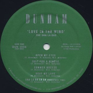 Sha La Das / Love In The Wind label