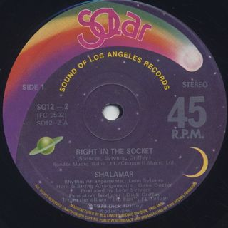 Shalamar / Right In The Socket back