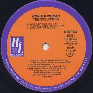 Stylistics / Wonder Woman label