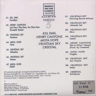 V.A. / MSG REC #03 - Various 5 back