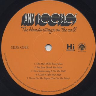 Ann Peebles / The Handwriting Is On The Wall label
