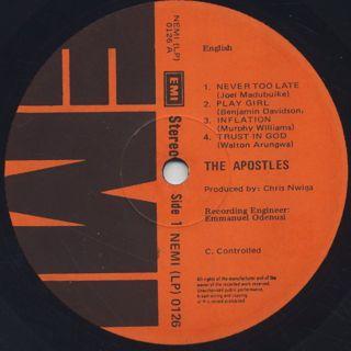 Apostles / S.T. label
