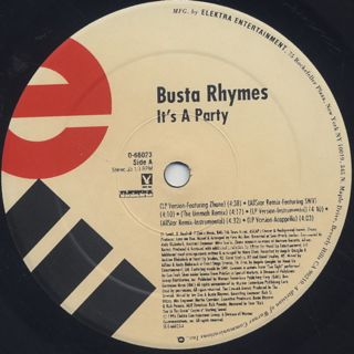 Busta Rhymes / It's A Party label