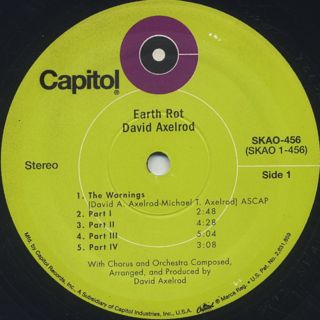 David Axelrod / Earth Rot label
