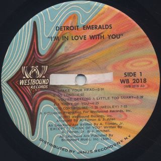 Detroit Emeralds / I'm In Love With You label