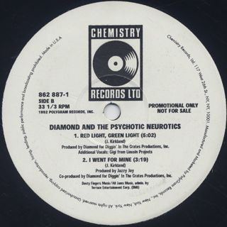 Diamond And The Psychotic Neurotics / Feel The Vibe label