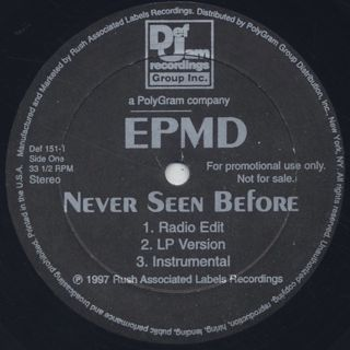EPMD / Never Seen Before label