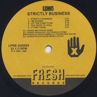 EPMD / Strictly Business label