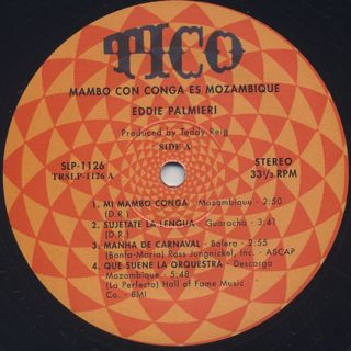 Eddie Palmieri / Mambo Con Conga Is Mozambique label