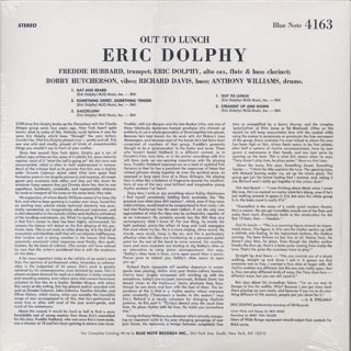 Eric Dolphy / Out To Lunch! back