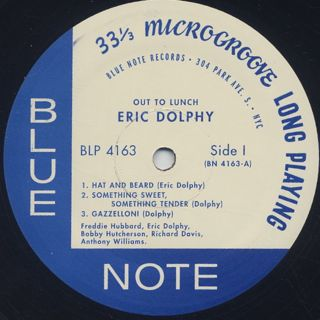 Eric Dolphy / Out To Lunch! label