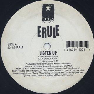 Erule / Listen Up back