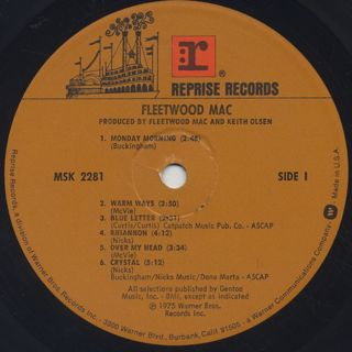 Fleetwood Mac / Fleetwood Mac label