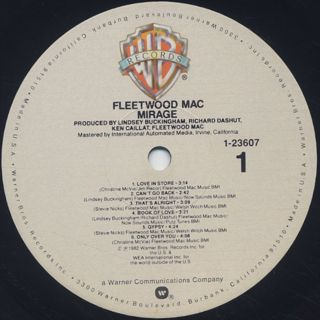 Fleetwood Mac / Mirage label