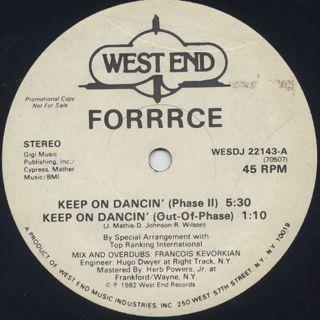 Forrrce / Keep On Dancin' back