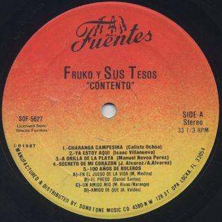 Fruko Y Sus Tesos / Contento label