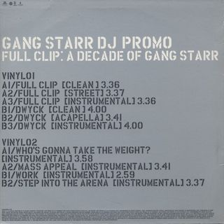 Gang Starr / Full Clip: A Decade Of Gang Starr back