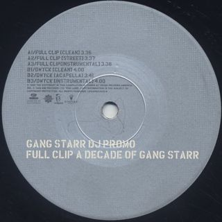 Gang Starr / Full Clip: A Decade Of Gang Starr label