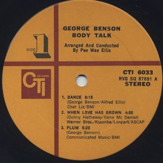 George Benson / Body Talk label