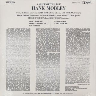Hank Mobley / A Slice Of The Top back