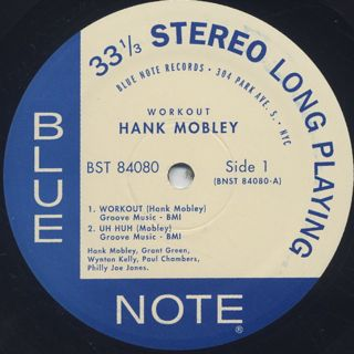 Hank Mobley / A Slice Of The Top label
