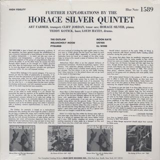 Horace Silver Quintet / Further Explorations back
