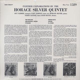 Horace Silver Quintet / Further Explorations back