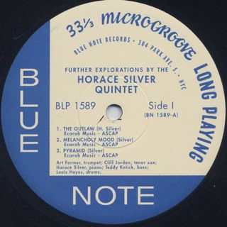 Horace Silver Quintet / Further Explorations label
