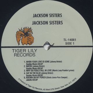 Jackson Sisters / S.T. label