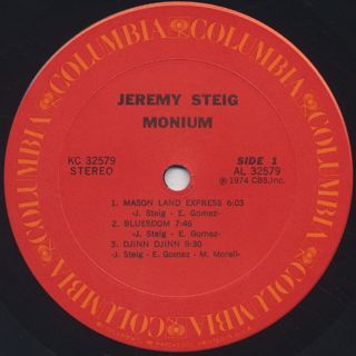 Jeremy Steig / Monium label