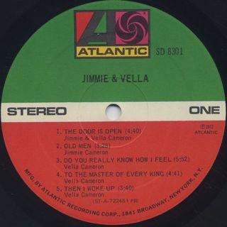 Jimmie & Vella / S.T. label