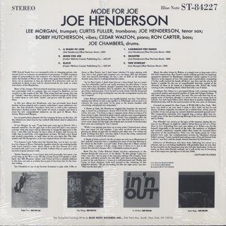 Joe Henderson / Mode For Joe back