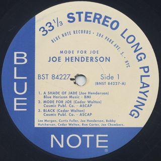 Joe Henderson / Mode For Joe label